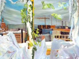 Atelierblick Januar am Fenster, 2010