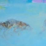"Beate Domasky, ""Haschen"", 2014, Öl auf Leinwand"