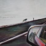 Unterwegs. Öl / Leinwand, 2011, 80 x 100 cm